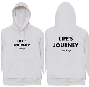 【受注生産】LIFE'S JOURNEY パーカー (ホワイト)
