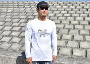 ロングTシャツSurf デザイン【ホワイト】