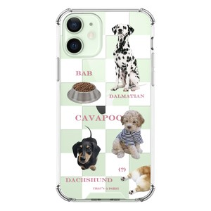 【that's a point】check dogs, white pattern / iphone スマホ ケース カバー  ジェリー ソフト ハード  韓国 雑貨