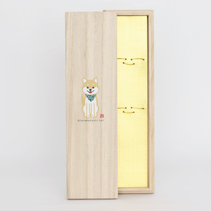 箸ギフト専用桐箱 柴犬柄(コード:790015)