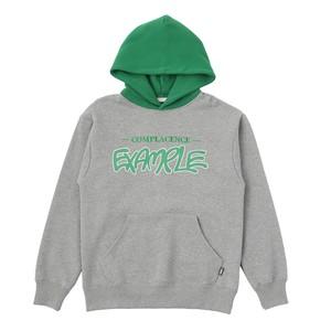 EXAMPLE 2TONE BB BEAR HOODIE / GRAY x GREEN