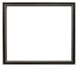 額縁おしゃれアンティークフレーム385黒銀 額縁寸法540mm×380mm窓枠寸法528mm×368mm 2mmアクリル裏板付 箱付き、完品 壁掛け用
