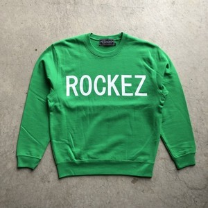 "ROCKEZ ""Old Logo"" Crew Sweat -GREEN-"