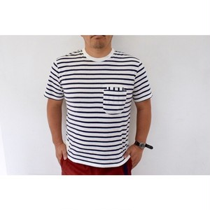 Simva 104-0060 W-Pocket Border S/S Tee Navy