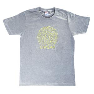 TASKO「OKSAT」Tシャツ グレー&イエロー