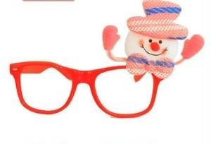 X'mas大人気 赤メガネかわいい♡雪だるま付き nfab133