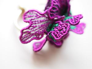 ARRO / Embroidery earring / SWELL / purple