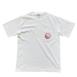 Sign board letters  / pocket tee / White