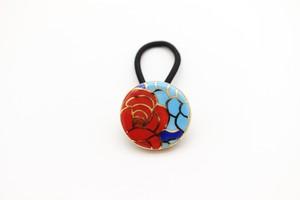 有田焼ヘアゴム 薔薇 1