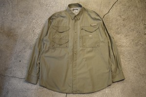USED Columbia PFG fishing shirt L 90s S0221