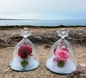 ガラスの天使 ≪ピンクのバラの花束≫ ブリザードフラワー