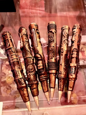 スチームパンクボールペン Steampunked Ballpoint Pen