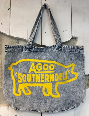 "AGOO ""SOUTHERNDELI"" DENIM LARGE TOTE BAG"