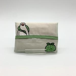 【辻佐織】ふろしき文鳥 ポケットティッシュケース