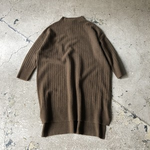 MidiUmi : wide rib bottle neck one piece   Color : Brown