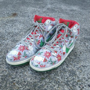 【2013年製】ナイキNIKE×コンセプツ/ダンク ハイ クリスマス/NIKE DUNK HIGH SB PRM CNCPTS/DUNK HI PREMIUM SB CONCEPTS UGLY CHRISTMAS SWEATER/スニーカー/28.5/グレー/635525-036/