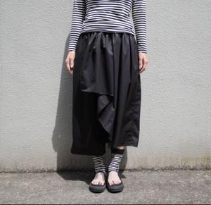 スカートパンツ−ブラック