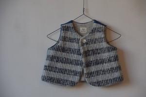 Gara-bou Baby Reversible Vest (Indigo Border) / Suno&Morrison