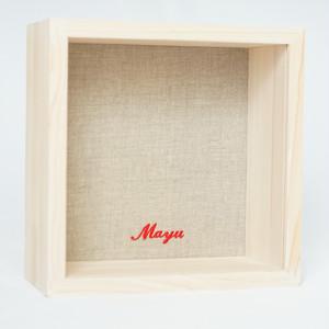 kobaco - Natural linen / 筆記体アルファベット刺繍