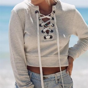 Lace up Sweatshirt 25516