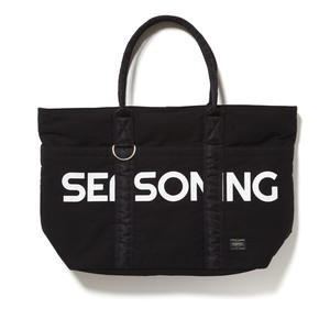 SEASONING×PORTER TOTE BAG - BLACK