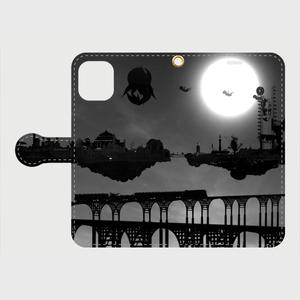 白い太陽iPhone専用手帳型ケース