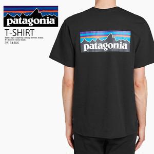 patagonia (パタゴニア) 39174-BLK P-6 LOGO RESPONSIBILI TEE (ロゴ レスポンシビリ Tシャツ) メンズ レディース 半袖 半袖T トップス BLACK (ブラック)