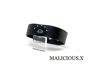 eye belt choker / blue × pink