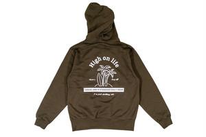 【high on life hoodie】 / khaki