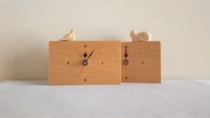 木製置き時計 四角形 ノーマル