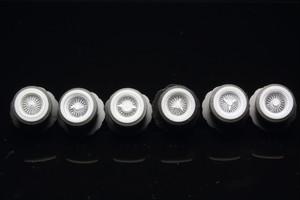 小径ワイヤーホイール ホワイトウォールタイヤセット 3Dプリント  1/64 未塗装