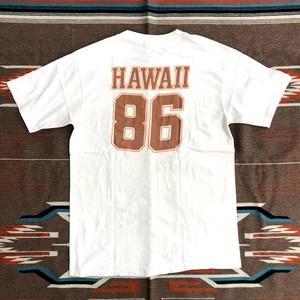 80's HAWAII 86 ハワイ ビンテージ ナンバリング Tシャツ(ベージュ,L)