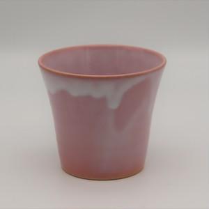 硝子釉ロック碗 ピンク
