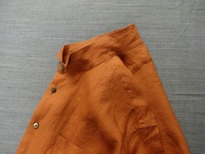 classic wingcollar shirtcoat / persimmon