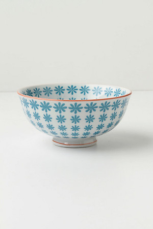 ANTHROPOLOGIE // 茶碗Bowl -tile blue
