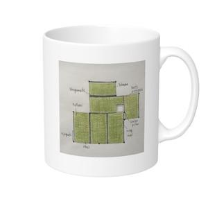 【送料込み】四畳台目茶室 マグカップ(片面柄)