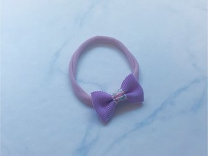 baby head band mini ribbon【lilac】