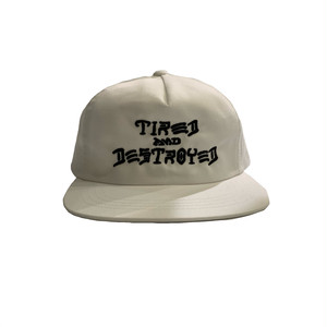 T&D 5-PANEL UNCONSTRUCTED CAP <white> 【TIRED】