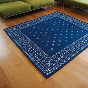 "Cross Bandanna Rug XL ""200×200cm"" [送料無料]"