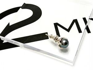 アコヤパール 黒 5mm Silver925シングルピアス