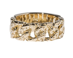 Brain Chain Ring Gold Coating