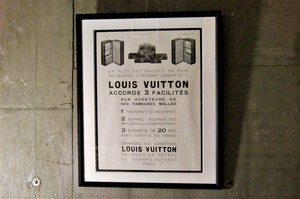 LOUIS VUITTON ルイ・ヴィトン Travel Trunk French アドバタイジング