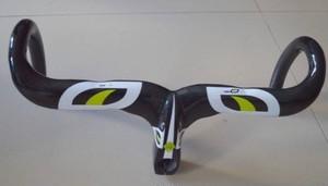 軽量カーボンドロップハンドルバー ステム一体型 ロードバイク