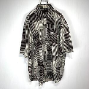 【USED】Men's Silk Pattern shirt