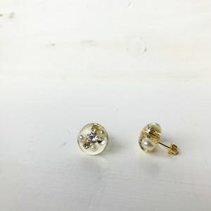 受注生産*water dorop!! pearls & cubic zirconia