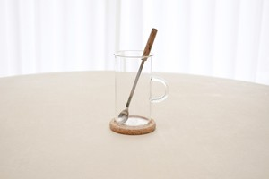 Boda Nova glass cup with muddler spoon&cork corster(Signe Persson Melin)