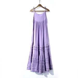 Purple Cotton Camisole Maxi Dress / パープルコットンキャミソールワンピース