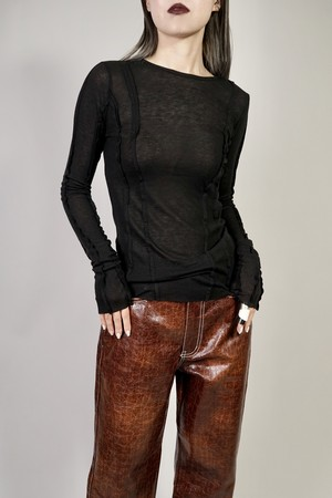 INSIDEOUT SWITCHING L/S TOPS  (BLACK) 2103-42-8