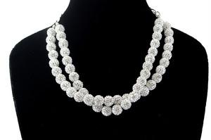ラインストーンパヴェボールネックレス pve-neckcrystal51 クリスタル パヴェ キラキラ