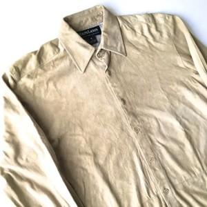 RALPH LAUREN : suede shirt (used)